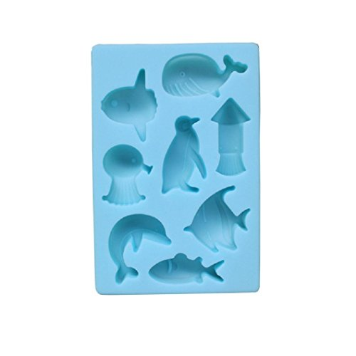 8 Cavity Sea Dolphin Shape Silicone For Making Chocolate Mou