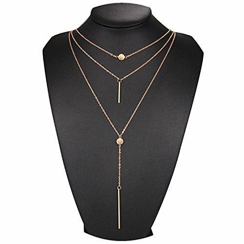 Dot Jewelry (Dot & Line necklace (Gold))