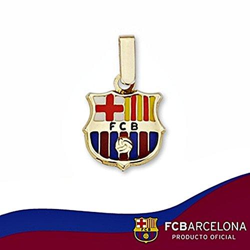 Pendentif bouclier F.C. Barcelona loi 12mm en or 18k. émaille [6509GR] - Modèle: 10-029 - personnalisable - ENREGISTREMENT inclus dans le prix