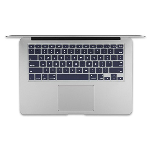 GMYLE 4 in 1 MacBook Air 13 Bundle Navy Blue Matte Set Plastic Hard Case Cover, Felt Storage Pouch Bag with Keyboard Skin, Screen Protector for MacBook Air 13 inch (A1369/A1466) by GMYLE (Image #4)