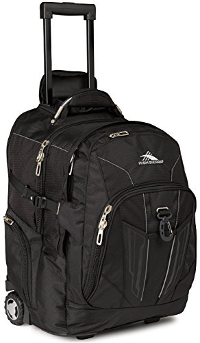 High Sierra XBT Wheeled Laptop Backpack, Black (Heavy Rolling Backpack Duty)