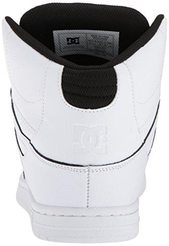Dc Mens Pure High-top Se Skateschoen Wit / Zwart / Wit