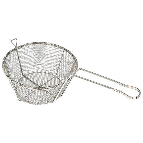 Winco FBRS-11, 11.25-Inch Wire 6-Mesh Fry Basket with Handle, Heavy-Duty Deep Fryer Basket