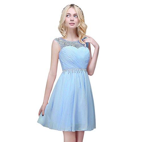 Vimans Damen A-Linie Kleid Hellblau EyOJOz3Asd