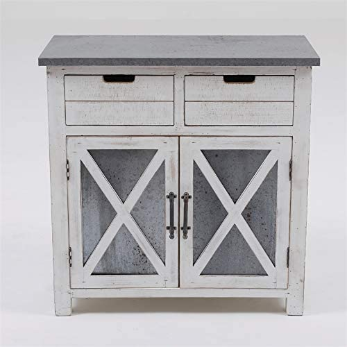 White Wood Console Cabinet