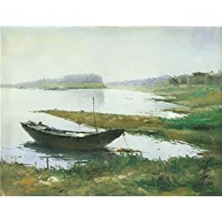 Oil Painting 'Landscape Of The Watery Place On Canvas' Printing On High Quality Polyster Canvas , 24x31 Inch / 61x79 Cm ,the Best Foyer Artwork And Home Gallery Art And Gifts Is This Amazing Art Decorative Prints On Canvas