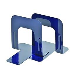 STEELMASTER Economy Steel 5 Inch Bookends, 1 Pair, Cobalt Blue (241005008)