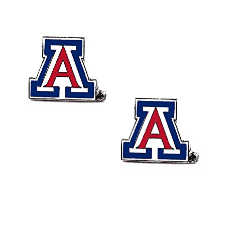 Licensed NCAA Arizona Wildcats Team (A) Logo And Colors Post Earring Set (Gift Box Included) Wildcats Team Post Earrings
