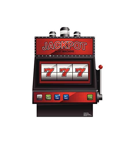 Advanced Graphics Vegas Slot Machine Life Size Cardboard Cutout Standup - Vegas Party Theme