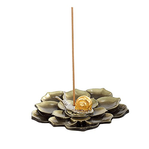 MEDOOSKY Brass Lotus Stick Incense Burner and Cone Incense Holder