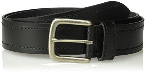 Dickies Men's 100% Leather Belt With Embossed Logo , -black, Xlarge