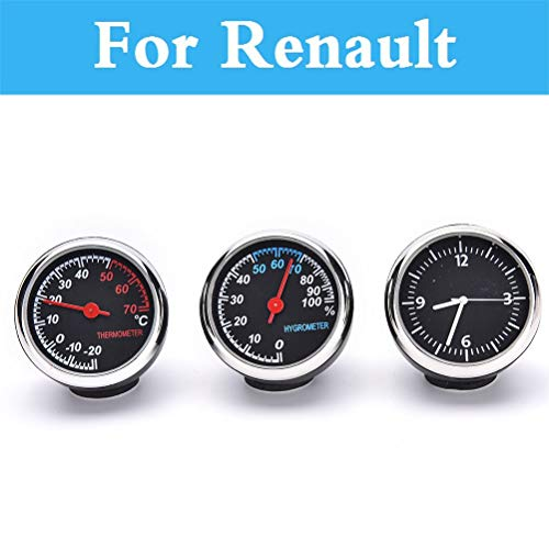 (Fastener & Clip Car Digital Thermometer Hygrometer Clock Watch for Renault Talisman Twingo Twizy Vel Satis Wind Zoe Sandero Rs Symbol - (Color Name: Quartz Clock))