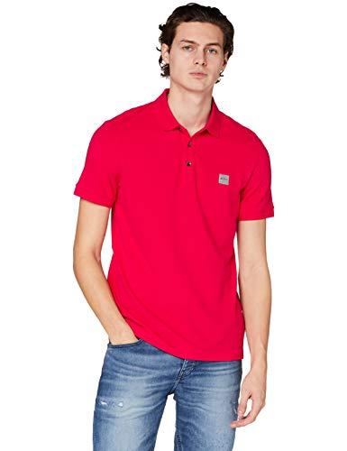 BOSS Mens Passenger Logo-Patch Polo Shirt in Stretch-Cotton piqué