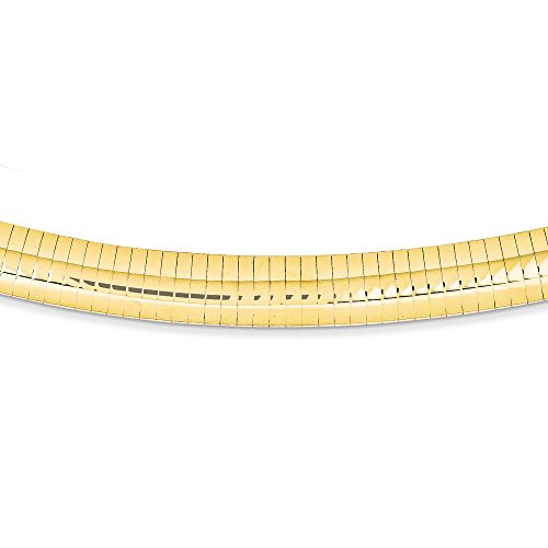 14k Yellow Gold 10mm Domed Omega Necklace