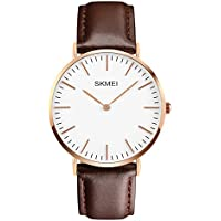 Men's Dress Wrist Watch Casual Classic Stainless Steel Quartz Wrist Business Analog Watch with 40mm Case, Replaceable...