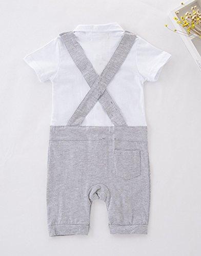 AvaCostume Baby Boys Jumpsuit Romper Gentleman Formal Suit Set