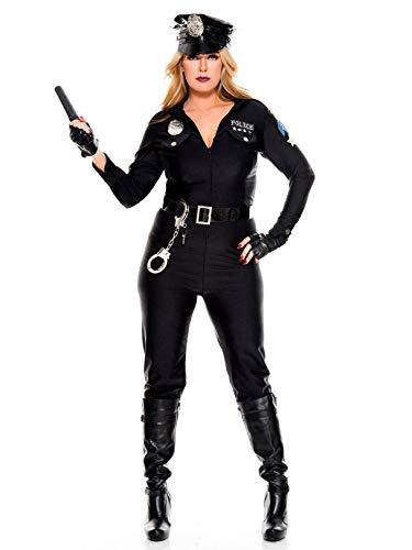 (Music Legs Perverse Police Lieutenant Sexy Cop Costume - Plus Size)