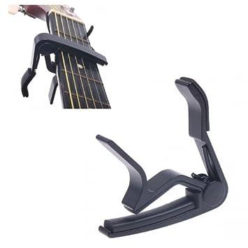 pligh (TM) - Color Negro y Plateado Cambio Rápido Abrazadera Clave Cejilla para guitarra eléctrica partes de guitarra y accesorios: Amazon.es: Instrumentos ...