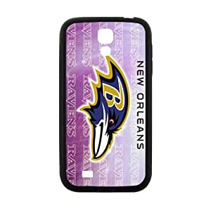 QQQO NFL Super Bowl Baltimore Ravens Cell Phone Case for Samsung Galaxy S4 hjbrhga1544