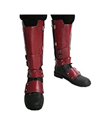XCOSER Mens Wade Shoes Knee High Boots Costume Accessories with Zipper 7.5