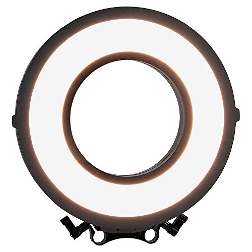 Fotodiox Pro FlapJack LED C-318RLS Rod Mounted, Bicolor Beauty Ring Light - 10-Inch Ultra-thin, Ultra-bright Professional Dual Color Edge Light, Dimmable Ringlight Kit with Case, Batteries & Charger by Fotodiox