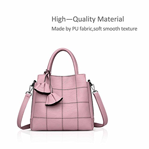 Pink a NICOLE Handbags Simple New Woman Trendy Blue Shoulder Female for Leather amp;DORIS Bag Handbags Bag Light Handbag Atmosphere Female Fashion qWRrqHn