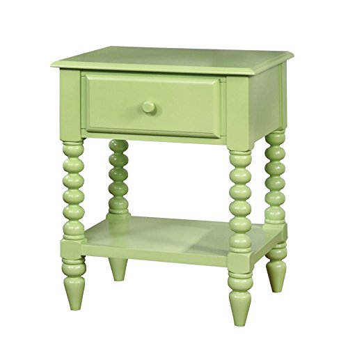 HOMES: Inside + Out IDF-AC323AG Dida Nightstand Childrens, Apple Green by HOMES: Inside + Out