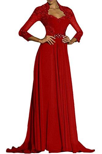 Vestido Topkleider Rojo mujer para trapecio RfxCRwq7g