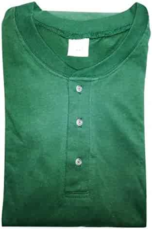 80981d3aebe Sovereign Henley Mens 7 8X T-Shirt Big   Tall Green Short Sleeve Shirt