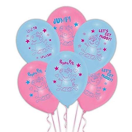 Gemma Peppa Pig Party Supplies Fiesta de cumpleaños Infantil para 32 Invitados Peppa Deluxe Party Vajilla con Globos y pancartas Peppa
