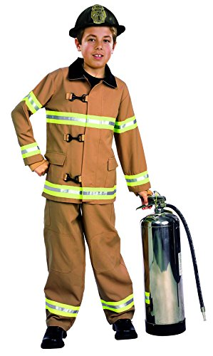 Young Heroes Child's Fire Fighter Costume, Small (Child Fireman Costume)