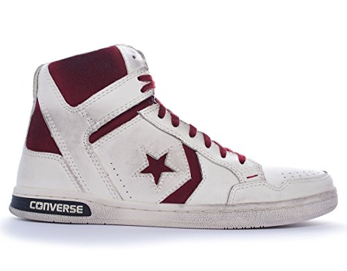 Converse Herren Weapon Hi Hightop Sneaker Weiß/Bordeaux