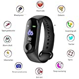 Tygot Digital Activity Tracker Band 3 Wristband Smartwatch with Everyday Step Count, Heart Rate Monitoring for All Smart Phones/Device (Black)