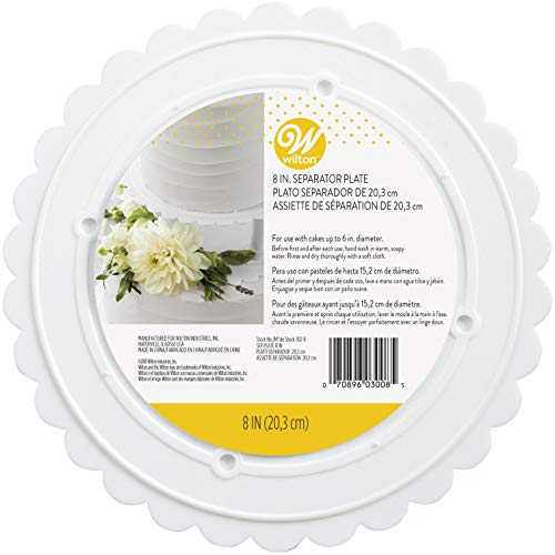 (Wilton 302-8 Decorator Preferred Round Separator Plate for Cakes, 8-Inch)