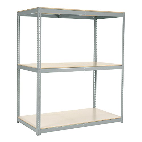 "Wide Span Rack with 3 Shelves Laminated Deck, 900 Lb Cap Per Level, 72""W x 48""D x 84""H, Gray"