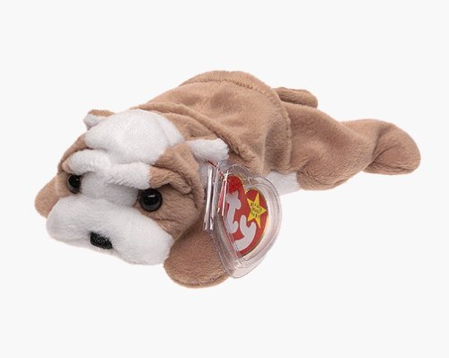 Ty Beanie Babies - Wrinkles the Dog - Retired by Beanie Babies from TY~BEANIES DOGS