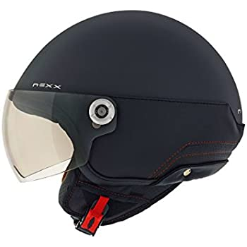 Nexx SX60 Cosmopolis Open Face Helmet (Medium, Black Gloss)
