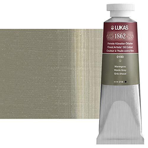LUKAS 1862 Artists' Oil Paint Master Quality German Engineered Oil-Based Art Paints - 37ml Single Tubes - [Warm Grey]