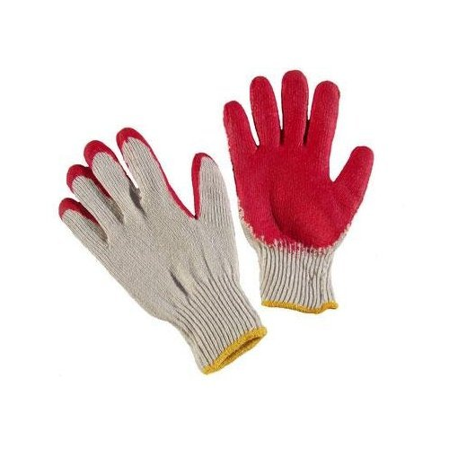 G & F 3106-10 String Knit Palm, Latex Dipped Nitrile Coated Work Gloves for General Purpose, 10-Pairs Per Pack, Red, -