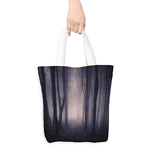 Shopping work bag Forest Path Through Dark Deep in Forest with Fog Halloween Creepy Twisted Branches Picture Cosmetic bag 16.5