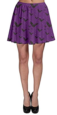 CowCow Womens Halloween Bats Ghost Pumpkins Witch Skater Skirt, XS-3XL