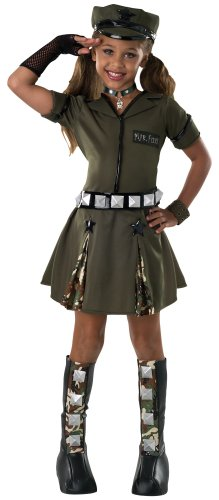 [Drama Queens Child's Major Flirt Costume, Small] (Military Costumes For Teens)
