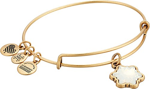 Alex and Ani Women's Crystal Snowflake Bangle Rafaelian Gold One Size