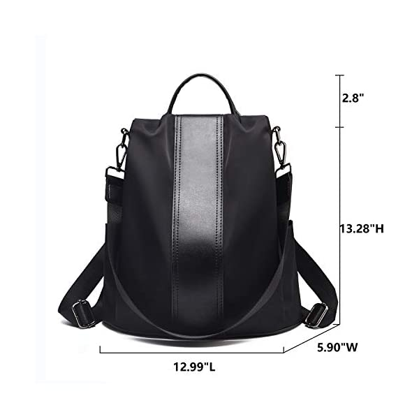 Charmore-Women-Backpack-Purse-Waterproof-Nylon-Schoolbags-Anti-theft-Rucksack-Shoulder-Bags