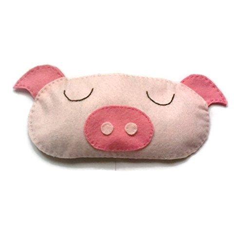 Cute Felt Pig Sleep Mask (Handmade Pig Mask)