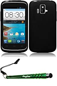 FoxyCase(TM) FREE stylus AND For ZTE Z740 Sonata Radiant Frosted TPU Cover Case - Black cas couverture