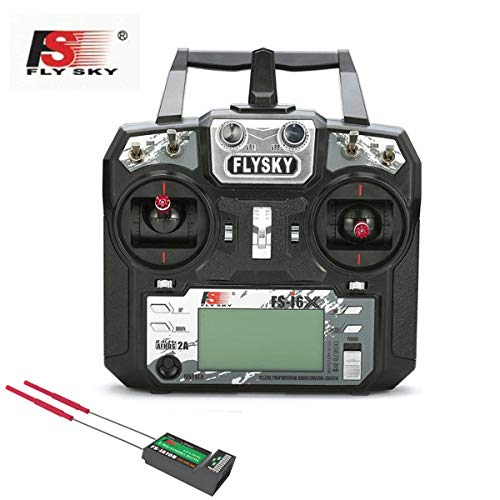 Flysky FS-i6X 2.4GHz 6CH AFHDS 2A RC Transmitter with FS-iA10B Receiver FS I6X RC Drone Airplane Helicopter Remote Controller(Model_2)