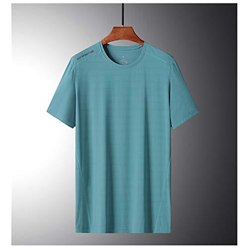 LALAGOU Compressieshirt voor heren, korte mouwen, ademend, van ijszijde, T-shirt met korte mouwen en ronde hals…