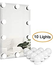 Hollywood Style LED Vanity Mirror Lights Kit, Makeup Light with 10 Dimmable Bulbs and Touch Dimmer for Makeup Vanity Table Set in Dressing Room