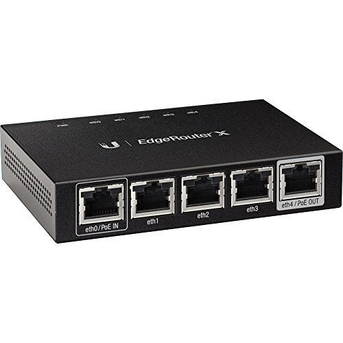 Ubiquiti EdgeRouter X Advanced Gigabit Ethernet Routers ER-X 256MB Storage 5 Gigabit RJ45 ports by Ubiquiti Networks